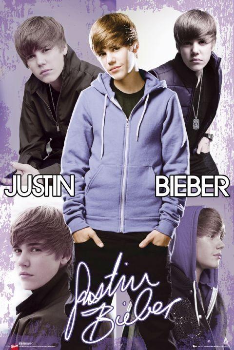Justin Bieber - collage Affiche