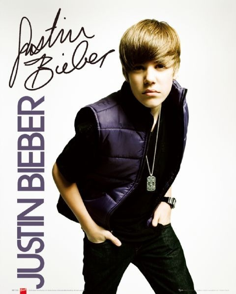 Justin Bieber - vest Affiche