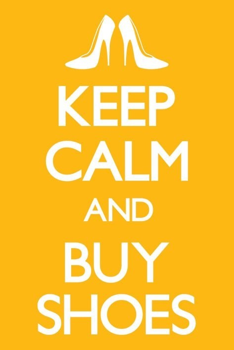 Keep calm and buy shoes Affiche
