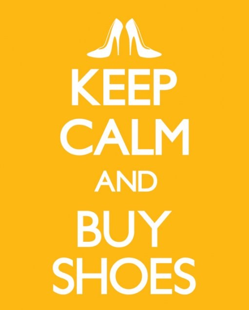 Keep calm & buy shoes Affiche