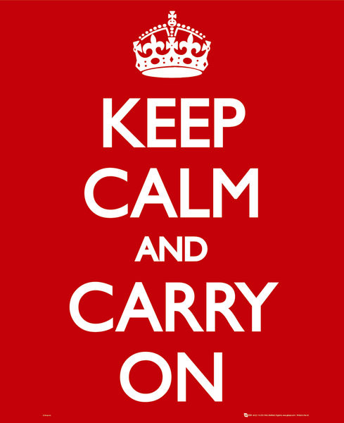 Keep calm & carry on Affiche