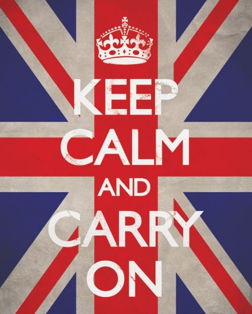 Keep calm & carry on - union Affiche