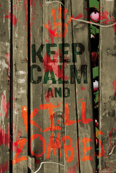 Keep calm & kill zombies Affiche