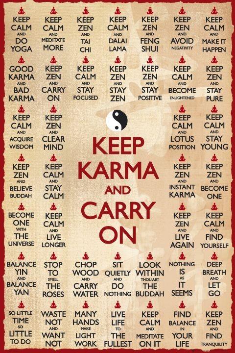 Keep karma Affiche