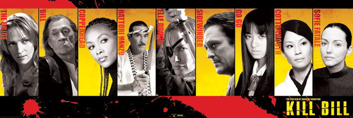 KILL BILL - Cast Affiche