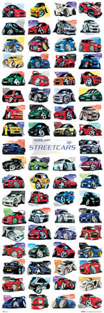 Koolart - streetcars Affiche