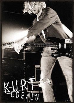 Kurt Cobain - live b&w Affiche