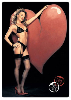 Kylie - heart Affiche