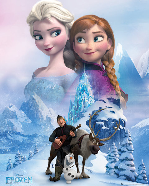 La reine des neiges collage poster affiche acheter le - Image reine des neige ...
