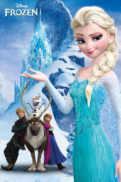 La Reine des neiges - Mountain Affiche