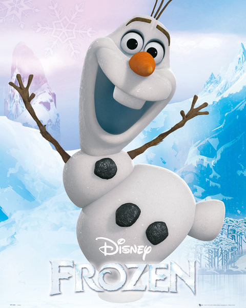 la reine des neiges olaf poster affiche acheter le sur. Black Bedroom Furniture Sets. Home Design Ideas