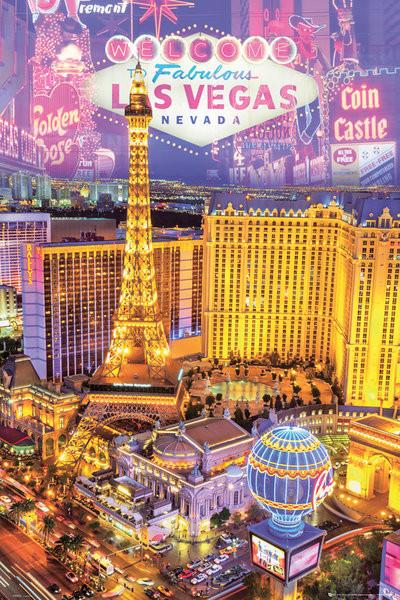 Las Vegas - collage Affiche