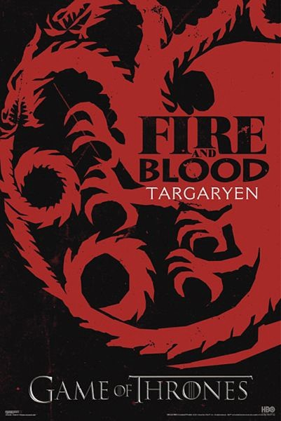 LE TRÔNE DE FER: GAME OF THRONES - fire & blood Affiche