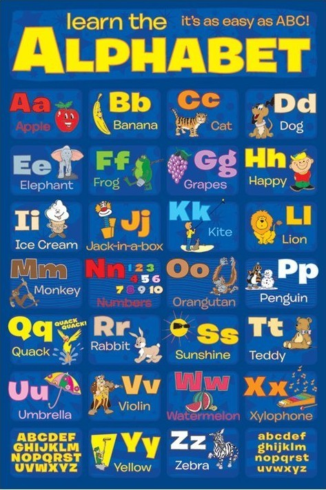 LEARN THE ALPHABET Affiche