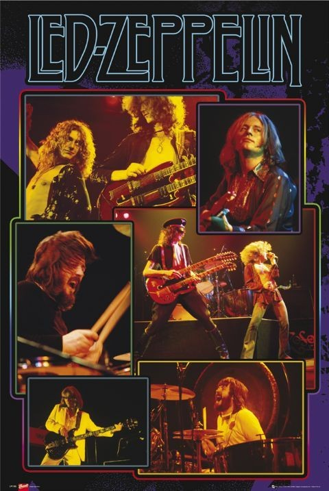 Led Zeppelin - collage Affiche