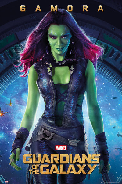 Les Gardiens de la Galaxie - Gamora Affiche