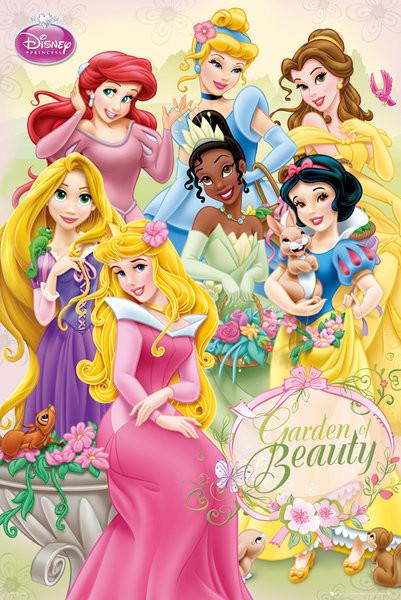 Les princesses disney garden poster affiche acheter - Image de princesse disney ...