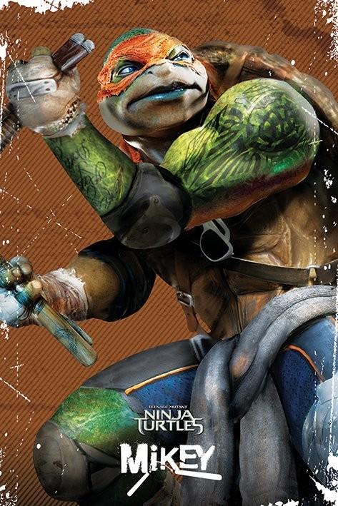 Les tortues ninja michelangelo poster affiche acheter - Tortue ninja michael angelo ...