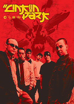 Linkin Park - group and logo Affiche