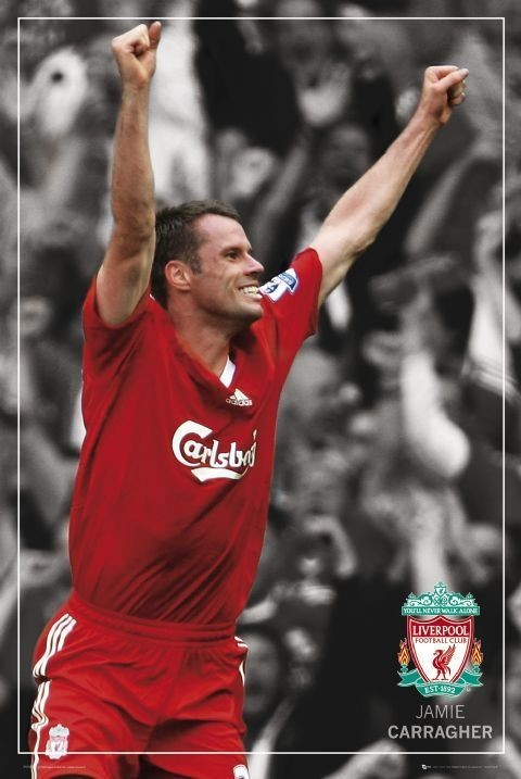 Liverpool - carragher pin up Affiche