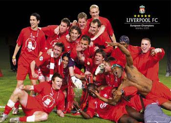 Liverpool - Euro celebration Affiche