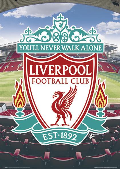 Liverpool - football crest Affiche