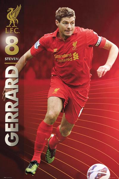 Liverpool - Gerrard 12/13 Affiche