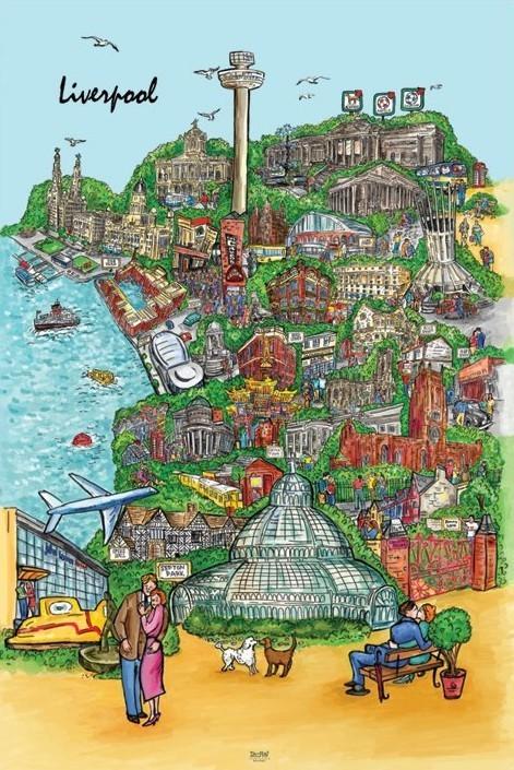 Liverpool - sketch Affiche