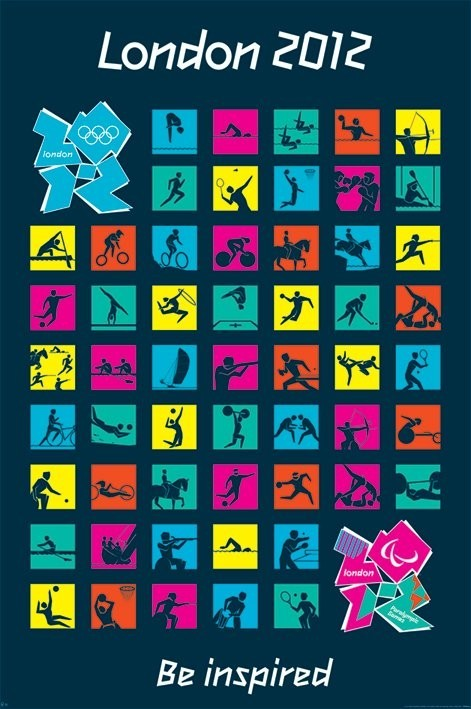 Londres 2012 olympics - pictograms Affiche