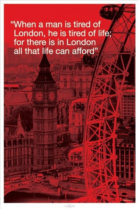 Londres - city quote Affiche