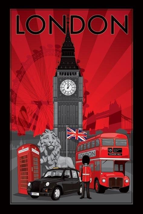 Londres Decoscape Affiche