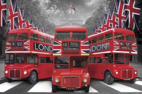 Londres - palace buses Affiche
