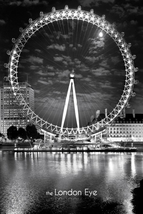 Londres - The London Eye Affiche