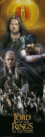 LORD OF THE RINGS - montage Affiche