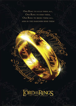 Lord of the Rings - the one ring Affiche