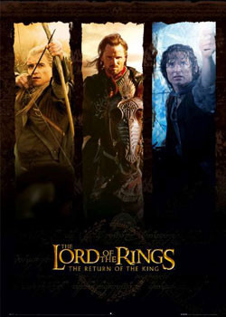 Lord of the Rings - trio Affiche