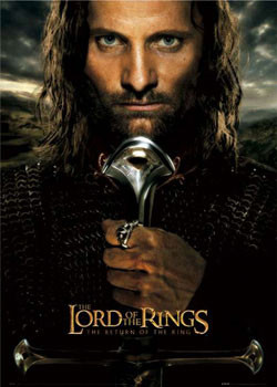 Lord of the RingsŮ - Aragorn teaser Affiche