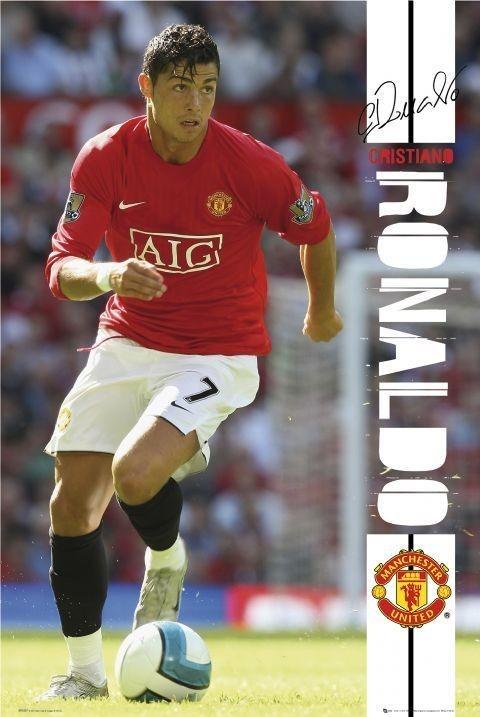 Man UTD - Ronaldo 07/08 Affiche