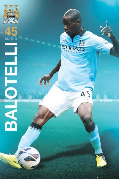 Manchester City - Balotelli 12/13 Affiche