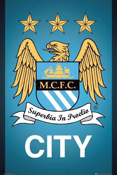 Manchester City FC - Crest 13/14 Affiche
