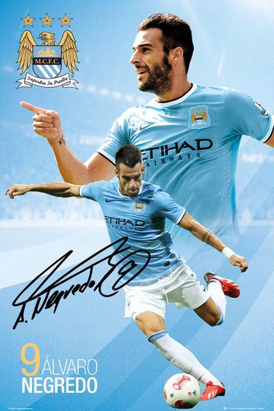 Manchester City FC - Negredo 13/14 Affiche