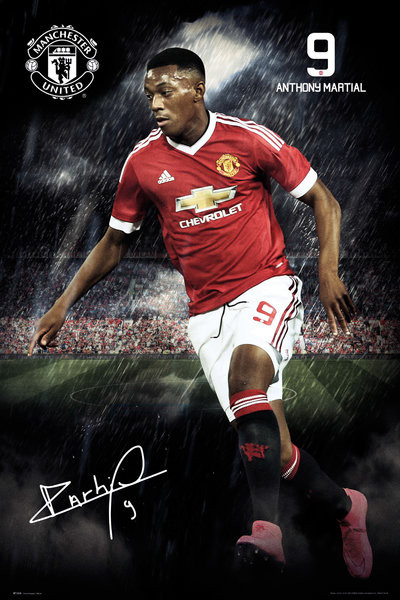 Manchester United FC - Martial 15/16 Affiche