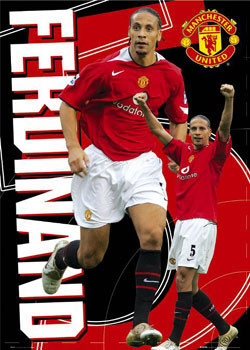 Manchester United - Ferdinand 5 Affiche