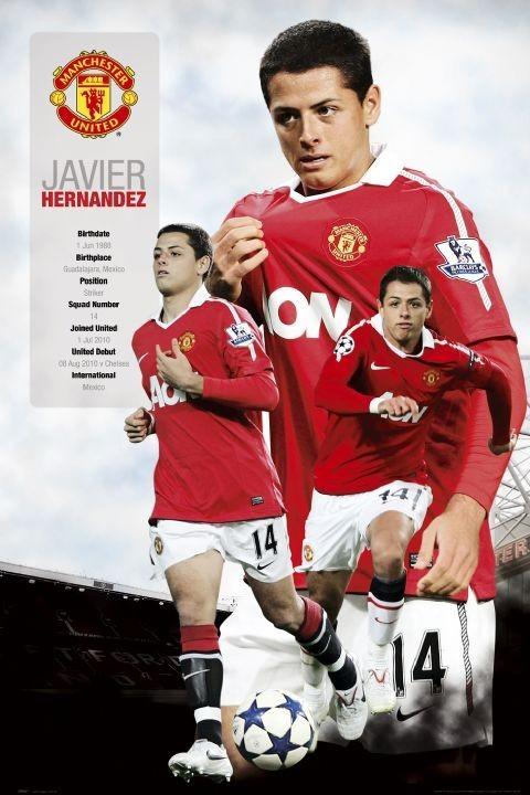 Manchester United - hernandez 2010/2011 Affiche