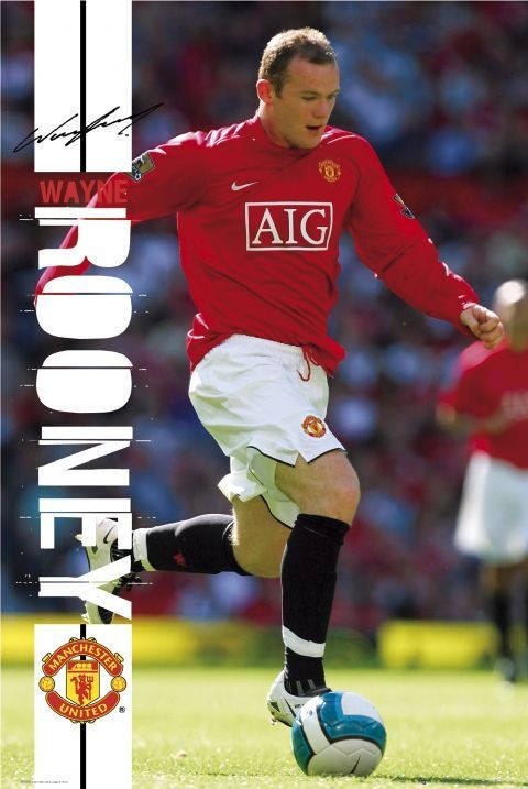 Manchester United rooney 07/08 Affiche