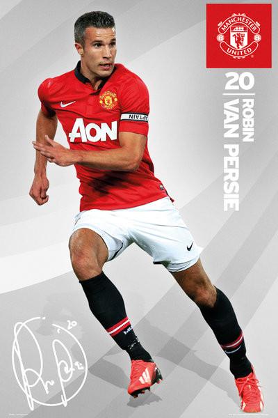 Manchester United - van persie 13/14 Affiche