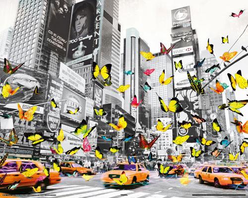 MANHATTAN - butterfly Affiche