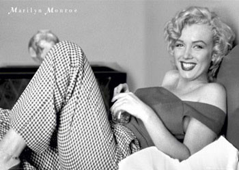 Marilyn Monroe – bed Affiche