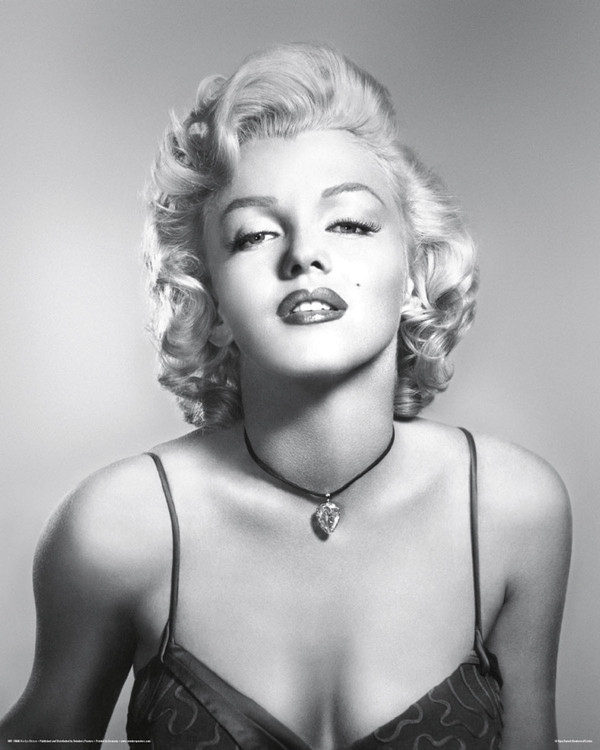Marilyn Monroe - diamond Affiche