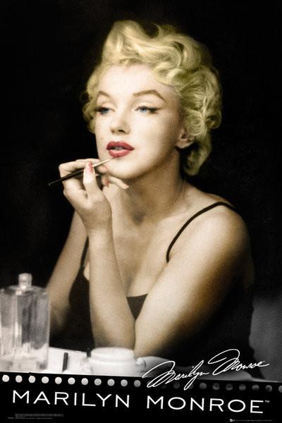 MARILYN MONROE - lipstick Affiche